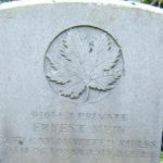 Grave marker – Photo provided by The Commonwealth Roll Of Honour Project. Volunteer Carol and Herb Thomas