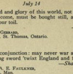 """Book Excerpt – Source: ON ACTIVE SERVICE: IDEALS OF CANADA'S FIGHTING MEN  - EDITED BY HON. CAPTAIN ALEX. KETTERSON    Canadian Expeditionary Force 1915-1918  """"DEDICATED TO  THE SACRED MEMORY OF THE GALLANT CANADIAN  OFFICERS AND MEN WHO DIED ON ACTIVE SERVICE IN THE GREAT WAR"""""""