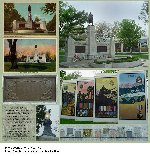 """Oshawa War Memorial – The Oshawa Ontario War Memorial (1924) was named """"The Garden of the Unforgotten"""". This elaborate memorial was set with stones from each Great War Allied Nation and from the battlefields where Canadians fought. A pair of electric torches were to remain burning, and a copper time capsule box with artifacts from 1924 was buried under the memorial. In 2002, the Memorial Park was redeveloped and today the park incorporates beautiful gardens. A plaque explaining the redevelopment states: """"Memorial Park is regarded as hallowed ground for quiet meditation, the enjoyment of music, and especially for honouring our men and women who served in armed conflicts""""."""