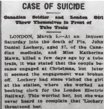 Newspaper clipping – From the Daily Colonist of March 6, 1917. Image taken from web address of http://archive.org/stream/dailycolonist59y73uvic#page/n0/mode/1up