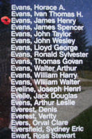 Memorial – Flight Sergeant James Henry Evans is also commemorated on the Bomber Command Memorial Wall in Nanton, AB … photo courtesy of Marg Liessens