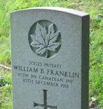Grave Marker – Grave of William Baxter Franklin.