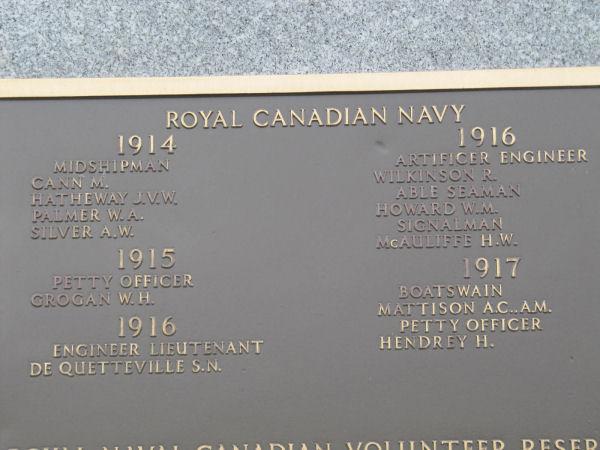 Inscription on Halifax Memorial