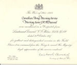 Mentioned in Despatches Certificate – Certificate for being Mentioned in Despatches for Nursing Sister Jessica Mabel McDiarmid who lost her life while on duty on the Hospital Ship, Llandovery Castle.