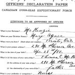 Officer's Attestation Paper