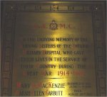 Memorial Plaque – Memorial Plaque at Queen's Park, Toronto.