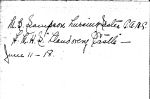 Signature – Possibly the last known signature of Mae Belle Sampson taken from the autograph book of Herbert James Anderson, Private, Royal Winnipeg Rifles on his return from England. Notice the date of the autograph, sixteen days before the Llandovery Castle was sunk. Private Anderson lost a leg in Passchendaele in 1917.