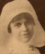 Photo of Evelyn Verrall McKay – In memory of the men and women from the Waterloo area who went to war and did not come home. From the booklet, Peace Souvenir – Activities of Waterloo County in the Great War 1914 – 1918. From the Toronto Public Library collection.  Submitted for the project, Operation: Picture Me.