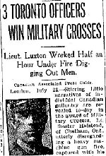 Newspaper Clipping – From the Toronto Star for 23 July 1918.