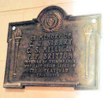 Memorial – A brass plaque at the Armouries, 1600 Elphinstone Street, Regina, SK which was originally placed in a branch of the Bank of Nova Scotia, is dedicated to three members of that branch killed during the First World War.