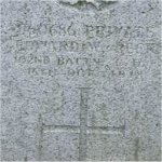 """Grave Marker – Grave of 760686 Pvt. Edward Winston Peck who served in the 102nd Battn. C.E.F.  Born in Windsor Ontario on Oct. 25th 1885.  Husband of Jennette A. Peck of Vancouver BC.  Edward enlisted into the 121st Battn. C.E.F. (Replacement) at New Westminster BC on Jan. 1st 1916 he listed prior military service of 5 months with the 47th Battn. & 4 months with the 11th Regt. Irish Fusiliers of Canada. He listed his occupation as """"Bookbinder""""  Edward died at Vancouver BC on Oct. 15th 1918 just 10 days short of his 33rd birthday.  He was laid to rest in the Mountain View cemetery of Vancouver BC."""