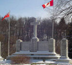 Paris War Memorial – Paris Ontario War Memorial. An unveiling and dedication ceremony was conducted at the memorial on November 11th, 1930. The memorial was unveiled by Mrs. R. Baldwin, mother of Nursing Sister Dorothy Baldwin. A dedicatory address was made by Lt.-Col. the Ven. Archdeacon F. G. Scott, D.S.O. (Canon Scott). Bands of the 10th Brant Dragoons and the 1st Dufferin Rifles assisted in the service. The memorial was designed and built by the Hunter Granite Works, Simcoe, Ontario. It is inscribed: 1914 - 1918 / TO THE GLORY OF GOD AND TO THE MEMORY OF THE MEN AND WOMEN OF PARIS WHO FELL AND IN HONOUR OF THOSE WHO SERVED IN THE GREAT WAR.