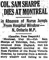 Newspaper Clipping – Newspaper Clipping Part 1.  The Globe, Toronto, Monday, May 27, 1918