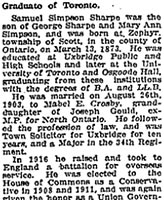 Newspaper Clipping – Newspaper Clipping Part 2.  The Globe, Toronto, Monday, May 27, 1918