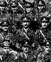 Group Photo – Group Photograph of the Officers of the 116th (Ontario County) Battalion.  Published prominently in the Toronto Star on January 5th, 1918.