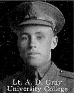 Photo of Douglas Gray – From: The Varsity Magazine Supplement published by The Students Administrative Council, University of Toronto 1916.  