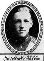 Photo of Douglas Gray – From: The Varsity Magazine Supplement Fourth Edition 1918