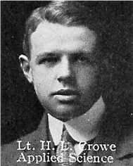 Photo of Harry Crowe – From: The Varsity Magazine Supplement published by The Students Administrative Council, University of Toronto 1916.  