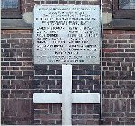 Todmorden Sons of England (SOE) war memorial – Memorial Tablet located at St. Barnabas Church, Danforth Avenue, Toronto.  