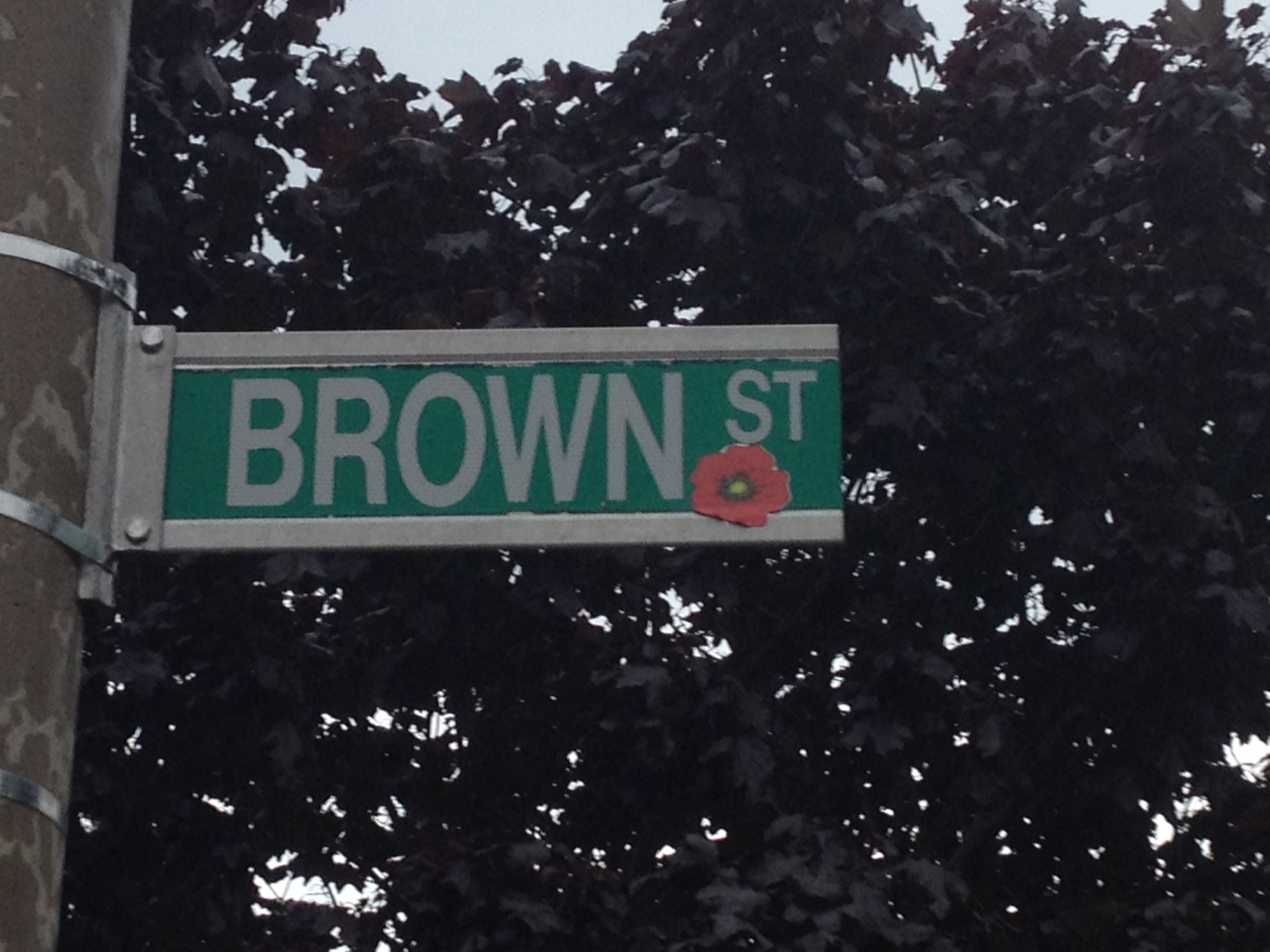 Panneau de rue
