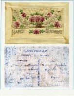 Carte d'anniversaire – Carte postée de France en août 1917 pour l'anniversaire de sa fille Annie le 25 novembre.