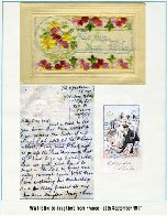Lettre – Carte à sa femme datée du 29 septembre 1917.  Des cadeaux sont mentionés pour les anniversaires de ses deux filles.