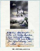 Carte d'anniversaire – Carte d'anniversaire à sa fille Annie, envoyée du Royaume-Uni en 1916. Remarquez que toutes ses lettres étaient signées Harry, comme on l'appelait dans sa famille.