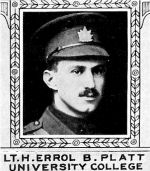 Photo of Henry Platt – From: The Varsity Magazine Supplement Fourth Edition 1918