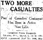 Newspaper Clipping – Source: the Toronto Star for 1 March 1915.