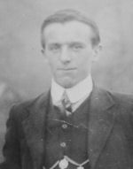 Photo of Albert Schofield – A picture of my great Uncle Albert , taken in Bollington before he sailed for Canada.