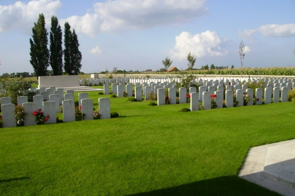 Cemetery – Cemetery … Passchendaele New British Cemetery … photo courtesy of Marg Liessens