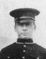 Photo of Alexander Decoteau – When Alex Decoteau joined the Edmonton Police department in 1911, he became the first Native police officer in Canada. Although he would eventually rise to the rank of sergeant, and also hold the distinction of being the country's first motorcycle policeman, Decoteau is probably remembered less for his law enforcement career than for his athletic prowess.  Decoteau was a distance runner who won local [Edmonton] races with such regularity, some organizers thought it simpler to award him their trophies permanently. He was the provincial champion in the half-mile, one-mile, two-mile, three-mile, five-mile, and ten-mile events, once winning four of them in a single day. And at the 1912 Olympics in Stockholm, Decoteau stood out as the only Albertan chosen for Canada's Olympic team. In April of 1916, Alex Decoteau enlisted in the Canadian Army. Eighteen months later, he was killed in action at the battle of Passchendaele. He was not yet thirty years old.  In 1967, Alex Decoteau was named to the Edmonton Sports Hall of Fame. Jo-Anne Christensen and Dennis Shappka. An Edmonton Album: Glimpses of the Way We Were. Toronto: Hounslow Press, 1999, p. 54