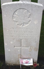 Grave Marker – Photo of grave marker courtesy of Wilf Schofield, England.