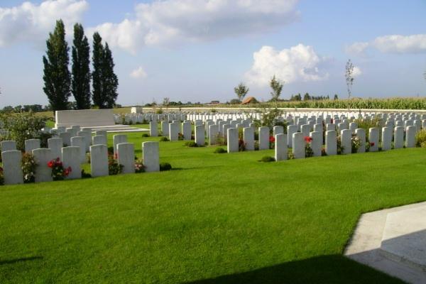 Cemetery – Cemetery … Passchendaele New British Cemetery … photo courtesy of Marg Liessens