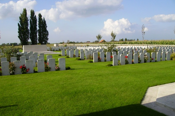 Cemetery – Passchendale New British Cemetery … photo courtesy of Marg Liessens