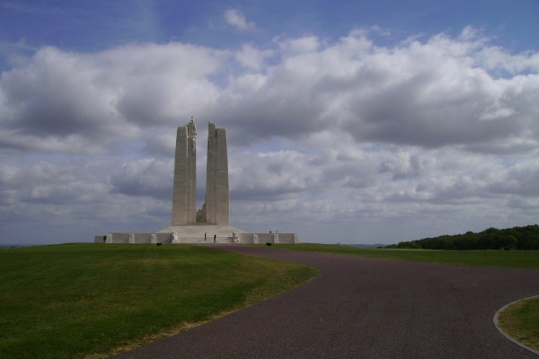 Vimy Memorial – August 2012 … Private Arthur Norman McLeod is also buried at Tyne Cot Cemetery, Belgium. Photo courtesy of Marg Liessens