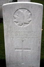 Grave Marker – Photo Courtesy of Wilf Schofield, England.  Major Norsworthy's brother, Lieut. Alfred Norswsorthy was killed while serving in the 73th Battalion of the Royal Highlanders of Canada, as was the 13th Battalion. Their brother, John Weldon, enlisted in the No. 6 McGill (OS) Battery Siege Artillery in May 1916..