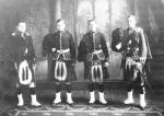 Group Photo – Norsworthy brothers all fought in the Royal Highlanders of Canada, but in different battalions.  Left to right, they are: Edward, Weldon, Alfred, Stanley Major Edward Norsworthy was killed 22.04.15 and his younger brother, Lieut. Alfred Norsworthy, was killed in 29.03.1917. Photo is courtesy of the Norsworthy family and used with permission of Anne Brooks of www.annebrooks.ca  and his brother Lieut. Alfred Norsworthy was killed 29.03.17.