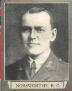 Photo of Edward Cuthbert Norsworthy – From The War Book of Upper Canada College, edited by Archibald Hope Young, Toronto, 1923.  This book is a Roll of Honour including former students who served during the First World War.