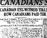 Newspaper Clipping – First part of an account published in the Toronto Star for 1 May 1915 of the battle in which Major Norsworthy was killed in action.  His death is described in this article.