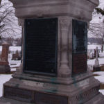 Memorial – The memorial is located in the cemetery in Ingersoll, Ontario.