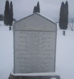 War Memorial – Monument Pioneer Cemetery, Oxford Centre, Norwich Township, Oxford County