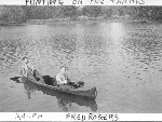 Photo of Frederick Arthur Rogers – Ralph P. Collyer (left) and Fred Rogers (right) punting on the Thames River.