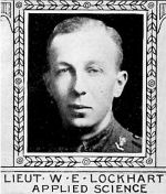 Photo of William Lockhart – From: The Varsity Magazine Supplement Fourth Edition 1918 published by The Students Administrative Council, University of Toronto.   Submitted for the Soldiers' Tower Committee, University of Toronto, by Operation Picture Me.