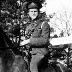 Photo of Claude Wright – Photo of Gnr C. Millard Wright, 3rd Field Battery, Gananoque, 1914.