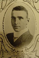 "Photo of Richard Stacpool Wynyard Bellhouse – University of Manitoba Roll of Honour 1914-1918.  Winnipeg, 1923. Roll of the Fallen (pg. 17) - ""BELLHOUSE, Richard Wynyard:  Eng. '14; Enlisted 17-5-15; Pte. Can. Engs.; Service in France; Killed in Action 31-3-16."""