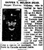 Newspaper Clipping – Clipping from the Toronto Star for 3 March 1917, page 7.