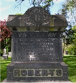 Memorial – Capt. Maurice Cameron Roberts is remembered on the Roberts family memorial at Hamilton Cemetery, 777 York Blvd., Hamilton, Ontario.