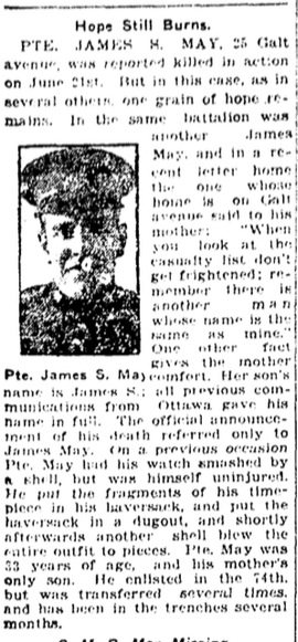 Newspaper Clipping – From the Toronto Star. Submitted for the project, Operation: Picture Me