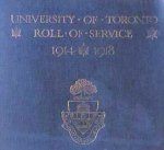 """Honour Roll – From the """"University of Toronto / Roll of Service 1914-1918"""", published in 1921."""